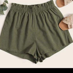 SHEIN Paperbag Waist Shorts